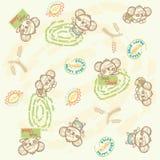 Naadloos koala gelukkig patroon Stock Foto