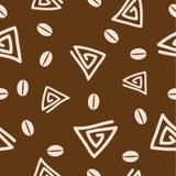 Naadloos koffiepatroon 2. Royalty-vrije Stock Afbeelding