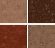 Naadloos koffiepatroon Royalty-vrije Stock Foto
