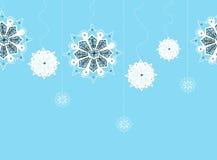 Naadloos koord van sneeuwvlokken Stock Afbeelding