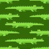 Naadloos krokodilpatroon Krokodilleachtergrond croc reptiel vectorillustratie royalty-vrije illustratie