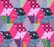 Naadloos lapwerkpatroon vector illustratie