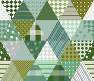 Naadloos lapwerkpatroon in groene tonen Vector illustratie vector illustratie