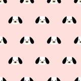 Naadloos leuk hondpatroon Royalty-vrije Stock Afbeelding