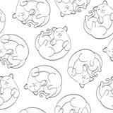 Naadloos leuk vectorkattenpatroon Stock Foto's