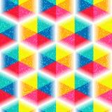 Naadloos levendig patroon met moza?ekzeshoeken vector illustratie