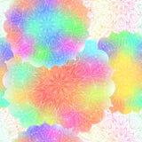 Naadloos Licht Patroon van Mandala Stock Fotografie