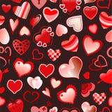 Naadloos liefdepatroon Stock Afbeelding