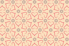 Naadloos liefdepatroon Royalty-vrije Stock Foto