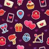 Naadloos liefdepatroon Royalty-vrije Stock Afbeeldingen