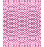 Naadloos liefdepatroon Roze harten en blauwe vierkanten op wit Stock Foto's
