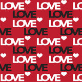Naadloos liefdepatroon voor liefdekaarten en valentijnskaartkaarten Vector Stock Afbeeldingen