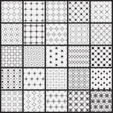 25 naadloos lijnpatroon stock illustratie