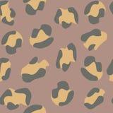 Naadloos luipaardPatroon Vector illustratie stock illustratie