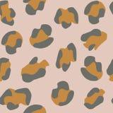 Naadloos luipaardPatroon Vector illustratie royalty-vrije illustratie