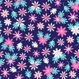 Naadloos madeliefje bloemenpatroon in Skandinavische volksstijlvector royalty-vrije illustratie