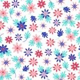 Naadloos madeliefje bloemenpatroon in Skandinavische volksstijlvector vector illustratie