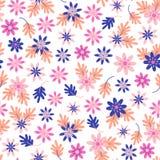 Naadloos madeliefje bloemenpatroon in Skandinavische volksstijlvector stock illustratie