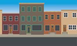 Naadloos Main Street Stock Afbeelding