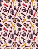 Naadloos make-uppatroon Stock Fotografie