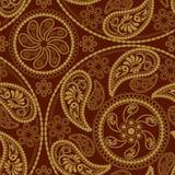 Naadloos mandalapatroon Stock Afbeelding
