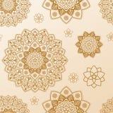 Naadloos mandalapatroon Etnische vector uitstekende elementen vector illustratie