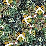 Naadloos mandalapatroon voor druk op document of stof royalty-vrije illustratie
