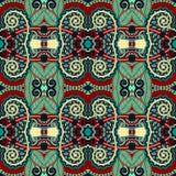 Naadloos meetkunde uitstekend patroon, etnische stijl Stock Afbeeldingen