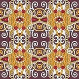 Naadloos meetkunde uitstekend patroon, etnische stijl Stock Foto's