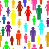Naadloos mensenpatroon Royalty-vrije Stock Afbeelding