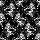 Naadloos met Abstracte Veren Royalty-vrije Stock Fotografie