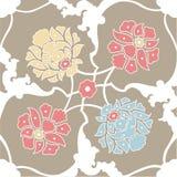 naadloos met bloemenpatroon, behang Stock Foto's