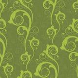 Naadloos met groene installaties Stock Afbeelding