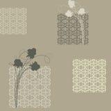 Naadloos met vierkanten en rozen Royalty-vrije Stock Afbeelding