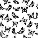 Naadloos met vlinders Stock Foto