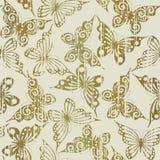 Naadloos met vlinders Stock Fotografie