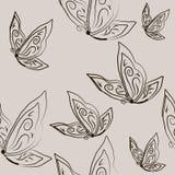 Naadloos met vlinders Royalty-vrije Stock Afbeeldingen