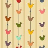 Naadloos met vogels Stock Afbeeldingen