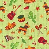 Naadloos Mexicaans patroon Stock Fotografie