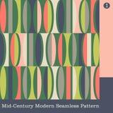Naadloos midden van de eeuw modern vectorpatroon stock illustratie