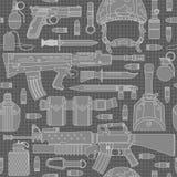 Naadloos militair patroon 01 Stock Afbeelding