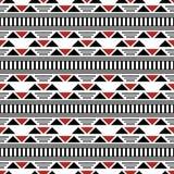 Naadloos modern contrasty patroon van lijnen, streepjes, driehoeken stock illustratie