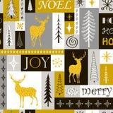 Naadloos modern Kerstmis geometrisch patroon Royalty-vrije Stock Afbeelding