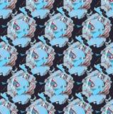 Naadloos modieus geometrisch patroon stock foto