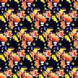 Naadloos modieus geometrisch patroon stock foto's