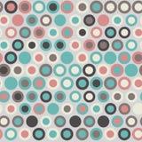 Naadloos modieus geometrisch patroon Vectorillustratie met concentrische cirkels diverse kleur Stock Afbeeldingen