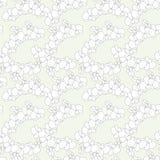 Naadloos mooi patroon in leuke witte bloemenorchidee op lichtblauwe achtergrond Bloemendruk voor textiel, stof productie, royalty-vrije illustratie