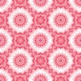 Naadloos mozaïek rood samenvatting betegeld patroon met abstracte bloemenbloesems royalty-vrije illustratie