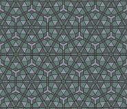 Naadloos mozaïekpatroon Stock Afbeeldingen