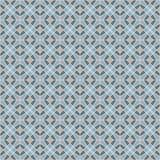 Naadloos mozaïekpatroon in koude tonen Stock Foto's